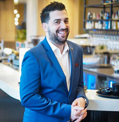 portrait of Mario, the Restaurant Manager for Firelafe Stavanger